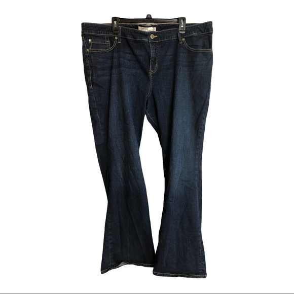 Torrid relaxed boot cut dark wash jeans size 24r